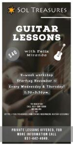 Beginners Guitar Lessons @ Sol Treasures