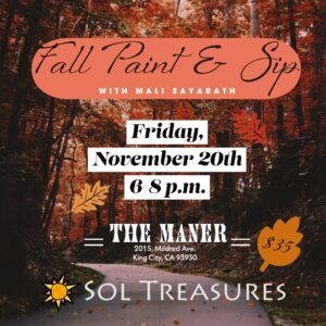 Fall Paint & Sip @ The Maner