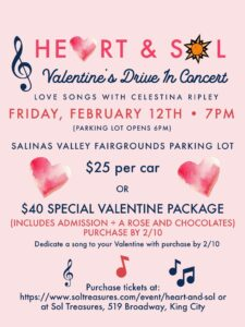 Heart and Sol Valentine's Drive-In Concert @ Salinas Valley Fairgrounds