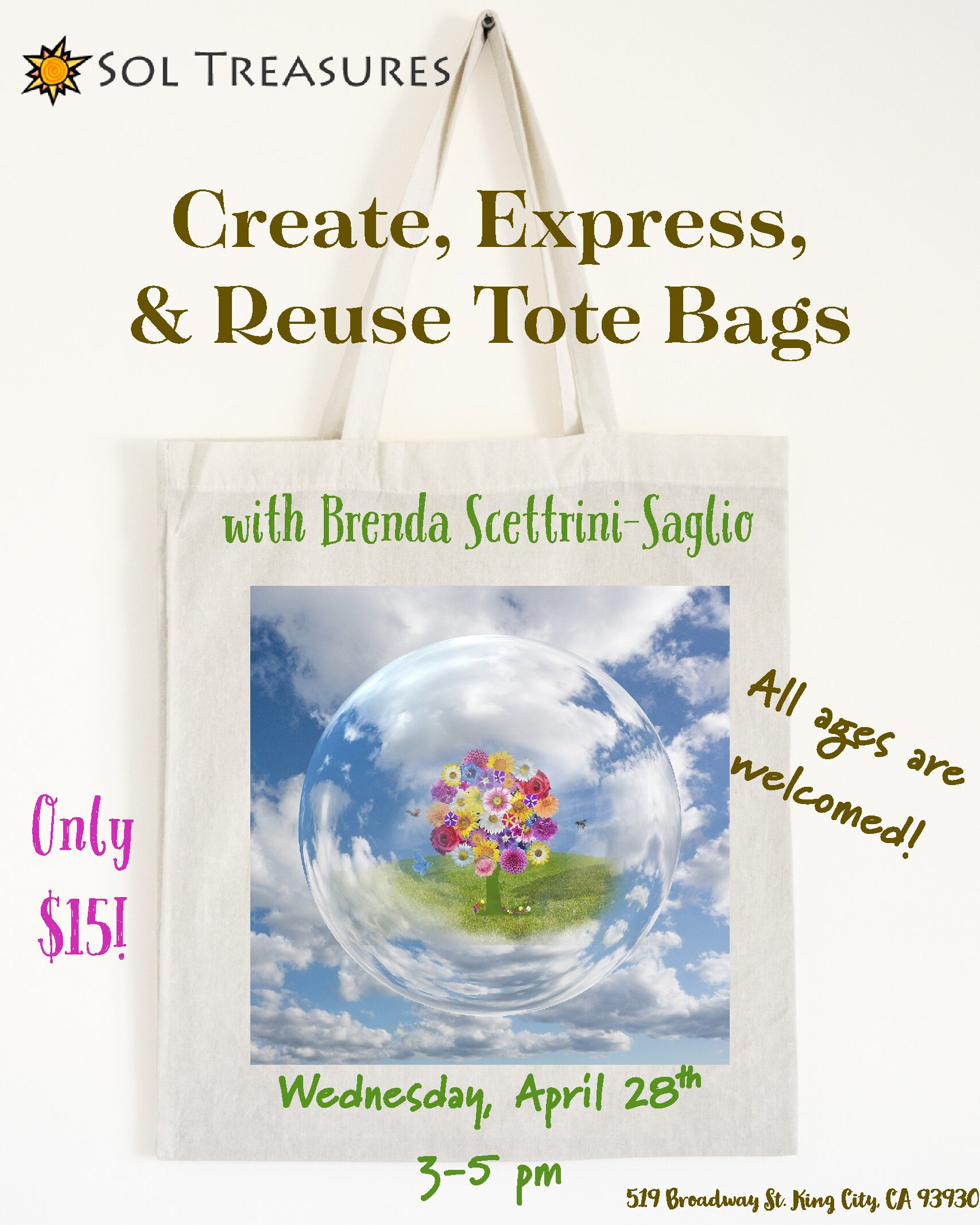 Create, Express, & Reuse Tote Bags