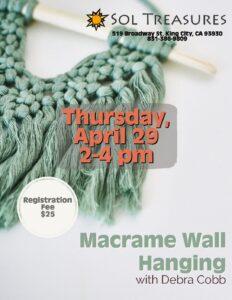 Macrame Wall Hanging @ Sol Treasures Backyard