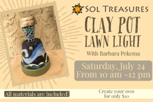 Clay Pot Lawn Light @ Sol Treasures Backyard