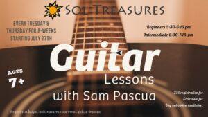 Guitar Lessons @ Sol Treasures