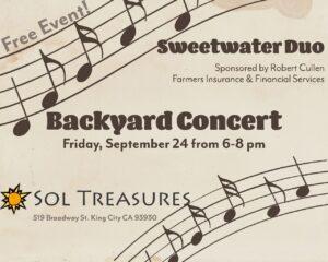 Backyard Concert @ Sol Treasures Backyard