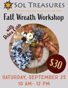 Fall Wreath Workshop @ Sol Treasures Backyard