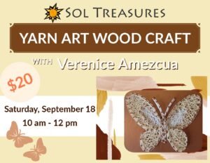Yarn Art Wood Craft @ Sol Treasures Backyard