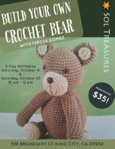 Build your own Crochet Bear @ Sol Treasures Backyard
